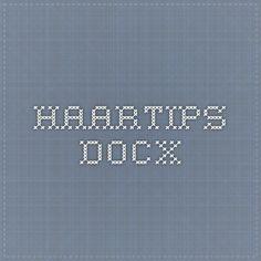 Haartips.docx