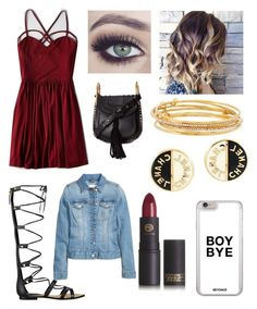"""""""Untitled #174"""" by veggieranch on Polyvore featuring American Eagle Outfitters, GUESS, Chloé, Kate Spade, Chanel and Lipstick Queen"""