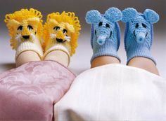 Crocheted Animal Booties By Sue Penrod - Free Crochet Pattern - (craftideas)