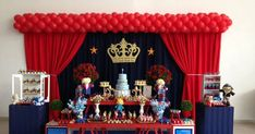 Prince Birthday Party, Baby Boy 1st Birthday, Mickey Mouse Birthday, Birthday Favors, 1st Boy Birthday, Girl Birthday Decorations, Baby Shower Decorations, Little Prince Party, Holidays And Events
