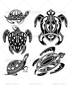 Turtle - Tattoos Vectors