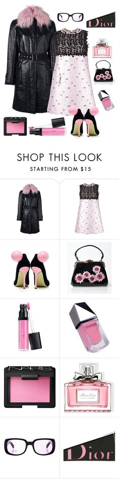 """Cocktail hour"" by kotnourka ❤ liked on Polyvore featuring Moncler, Giambattista Valli, Giannico, Voodoo Vixen, Laura Geller, GUiSHEM, NARS Cosmetics, Christian Dior and Kate Spade"