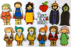 Snow White Felt Board Story Set by byMaree on Etsy Felt Board Stories, Felt Stories, Fairy Tale Activities, Language Activities, Disney Princess Snow White, Story Setting, Cute Clipart, Busy Book, Kids Events