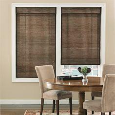 Natural Shades Modern Window Blinds Wood Fabric Bamboo Roman