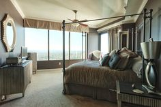 Bedroom in the clouds ..  Peachtree Road penthouse .. Atlanta, GA