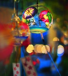 Furin / It is a small windchime hung and used under the eaves etc. in summer.