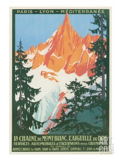 Travel Poster for French Alps Art Print at Art.com
