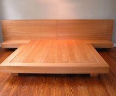 Handmade platform queen bed images