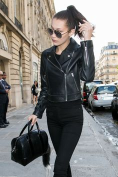 Pin for Later: 13 Basic Black Pieces Every Woman Should Own A Classic Moto-Style Leather Jacket
