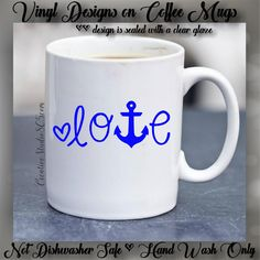 ANCHOR LOVE | Cute Coffee Mug | Coffee Cup | Funny Coffee Mugs |  Inspirational Mugs