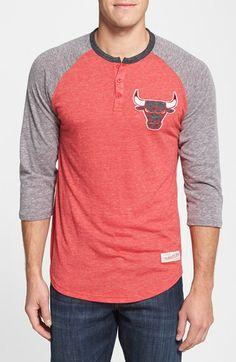 Mitchell & Ness 'Chicago Bulls - Hustle Play' Henley Shirt   Nordstrom