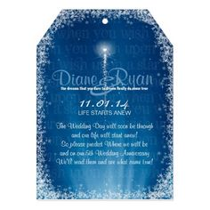 Fairytale theme dream wedding Prediction Cards. When you wish upon a star typography background blue hues with shooting star and ray of lights present a magical look and feel highlighting the dreams that you dare to dream really can come true for the couple in love. Accented shooting star heart on reverse with initials highlights a crystal ball area for your guests to write you a prediction.