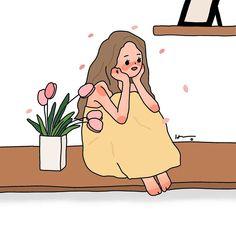 냉수먹고 배경화면 그려보기🤤 무더위속 안녕들 하신가요 ?!!! 네이버에 그림그리는방 검색후 블로그에서 다운받아 가세요 ^^❤️ . . .… Korean Illustration, Cute Illustration, Character Illustration, Cute Wallpaper Backgrounds, Wallpaper Iphone Cute, Cute Cartoon Wallpapers, Cute Art Styles, Cartoon Art Styles, Cute Poster