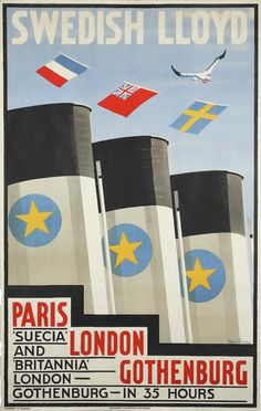 Swedish Lloyd - Paris-London-Gothenburg - 1935 -