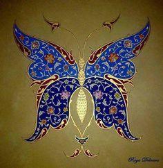 Kelebek hayati Ya siyah beyaz Ya asking renkleri Islamic Art Pattern, Pattern Art, Butterfly Art, Flower Art, Butterflies, Motif Oriental, Glue Art, Persian Motifs, Motifs Animal