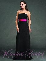http://www.jalisbridal.com/vb-1522.html ...  Contrast color waist band accent with tie back  $222.50