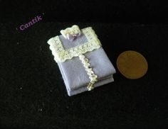 1:12 Scale Hand-Made Miniature PILE OF FOLDED LILAC LADIES LACE DETAILED BLOUSES