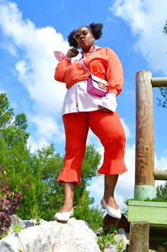 Fashion: Streetstyle Orange& PinK