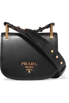 PRADA Pionnière Leather Shoulder Bag