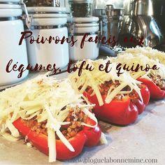 🌶🧀🥕Aujourd'hui sur le blogue, ma recette de poivrons farcis aux légumes, tofu et quinoa. Une belle façon de convaincre vos proches que la nourriture végétarienne est savoureuse. Le lien est dans ma bio. #recettevegetarienne #alimentation #foodporn #plantbased #bloguelabonnemine