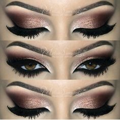 Dramatic Brown Smokey Eyes