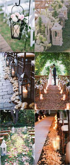 Outdoor Wedding Aisle Decoration Ideas to Love! #weddingdecoration