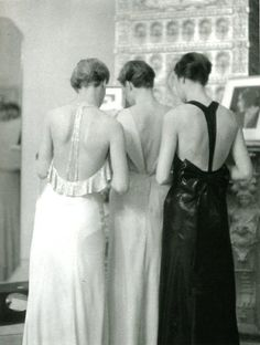 1930's wedding glamour, I'm in love with the one on the left
