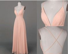 Simple prom dress,long prom dress,chiffion prom dress,pink prom dress,sexy prom dress,elegant wowen dress,party dress,evening dress,dress for teens L594