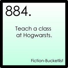 Fictional bucket list#884: Harry Potter