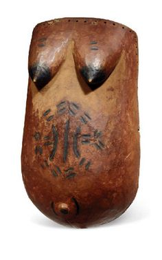 Africa | Body mask ~ 'indimu' ~ from the Makonde people of Tanzania and Mozambique | Wood and pigment