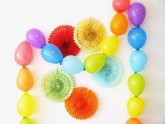 Rainbow Tablescape & DIY Balloon Garland | Party Ideas | Party Printables