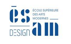 Une identité visuelle d'École d'arts appliqués (ESAM) tout en typo.