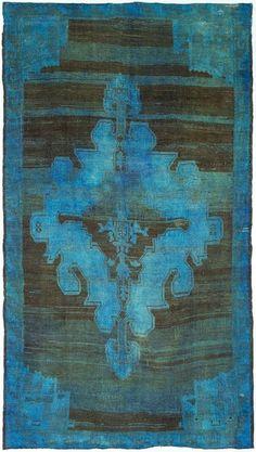 textile : tapis bleu turquoise
