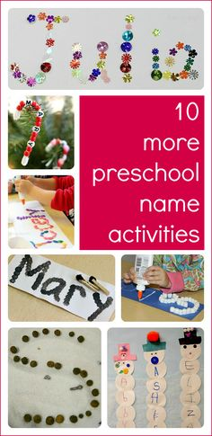 10 more preschool name activities