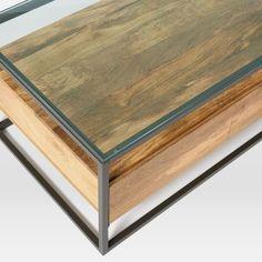 Box Frame Storage Coffee Table Storage Living Rooms And Room - West elm box frame storage coffee table
