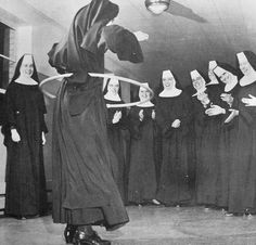 1950s Hula Hoop vintage photo NUNS | from the 1967 book FADS… | Flickr