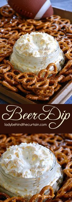 Super Easy Beer Dip. Whips ups in no time for your next tailgate party!