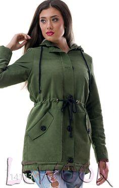 Куртка - парка на подкладке с капюшоном - купить оптом и в розницу, интернет-магазин женской одежды lewoor.com