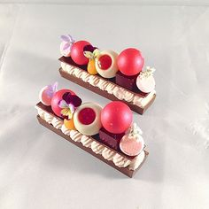 Raspberry ganache , passion fruit curd, raspberry truffle,… | Flickr