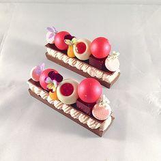 Raspberry ganache , passion fruit curd, raspberry truffle,… | Flickr