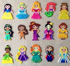 Princesas Disney Hama Beads www.hamabeadstienda.es