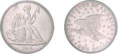 """Amerika - Vereinigte Staaten von Amerika. 1 US-Dollar 1836, """"Gobrecht Dollar"""", Adler mit Sternen."""