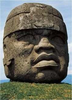 Colossal Head # 1, San Lorenzo, Mexico, Olmec culture, c. 1200-900 BCE