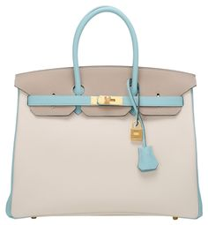 Bi-color So Blue Electric And Gris T Togo Birkin 30cm Tote Bag ...