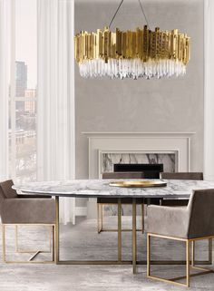 Good for any kind of home division, the EMPIRE SUSPENION is an unique piece. Composed by one layer of brass and another of crystal glass, it gives the space where it lives the lift you wanted to give to your interior design project! Find it at http://www.luxxu.net/