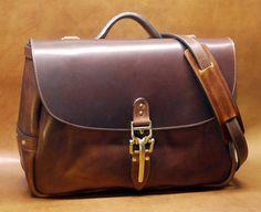 "Soho 16"" Mail Bag, Cognac Horween Dublin Leather Messenger Bag with Quik Latch, Shoulder Bag, Vintage Mailbag - Special Limited Edition"
