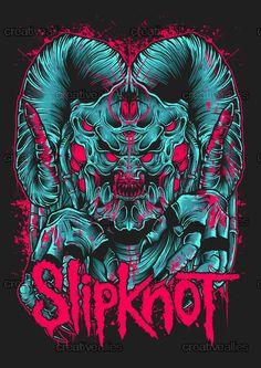 Slipknot+Merchandise+Graphic+by+Robin+Clarijs+on+CreativeAllies.com