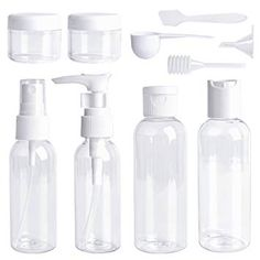 Shop for Travel Bottles Set 10 Pcs Air Travel Size Bottle Toiletries Liquid Containers For Cosmetic Makeup With Storage Bag By Ouway. Starting from Choose from the 2 best options & compare live & historic beauty prices. Spray Bottle, Water Bottle, Security Bag, Travel Size Bottles, Air Travel, Soap Dispenser, Travel Size Products, Bag Storage, Makeup Cosmetics