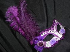 Shades of Purple White and Silver Masquerade by TheCraftyChemist07, $57.00
