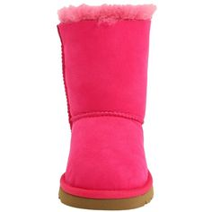 UGG Kids Bailey Bow (Toddler/Little Kid) ($120) ❤ liked on Polyvore featuring shoes and cerise